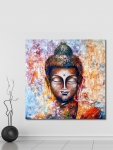 Hand-Painted Buddha Face Wall Painting Deal