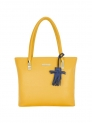 Aliena Ochre Yellow Solid Medium Shoulder Handbag