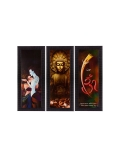 eCraftIndia Multicoloured Set of 3 Religious Wall Art