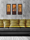 eCraftIndia Multicoloured Set of 3 Tribal Lady Wall Art