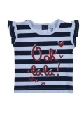 Gini and Jony Girls Blue Striped TOP