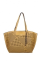 Giordano Yellow Perforated Tote Handbag