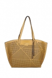 Giordano Yellow Perforated Tote Handbag