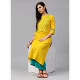 Yellow Solid Kurta with Sea Green Palazzo
