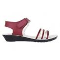 Oricum Women's Canvas Sandals ( Maroon )