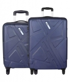 Safari Traffik Anti Scratch Luggage Trolley Bag (Combo Set of 2)