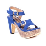 Ten Women's Suede Wedges ( Blue )