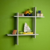The New Look Wood Wall Shelves ( White)