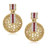 Vk Jewels Gold Alloy Dangle & Drop Earrings For Women